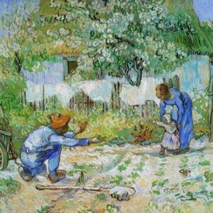 Posters Reprodukce Vincent van Gogh - První kroky (po Milletovi)