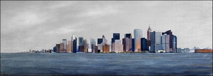 Posters Reprodukce Semenzato - Pohled z lodi na Manhattan