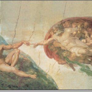Posters Reprodukce Michelangelo Buonarroti - Zrození Adama
