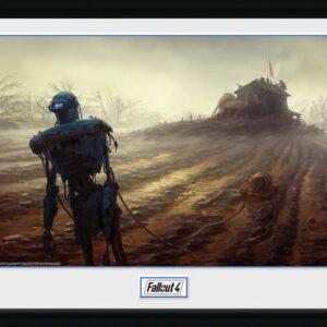 Posters Fallout 4 - Farming Robot rám s plexisklem - Posters