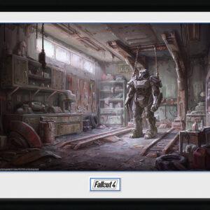 Posters Fallout 4 - Red Rocket Interior rám s plexisklem - Posters