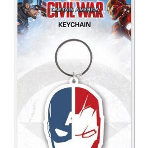 Posters Klíčenka Captain America: Občanská válka - Face Split - Posters