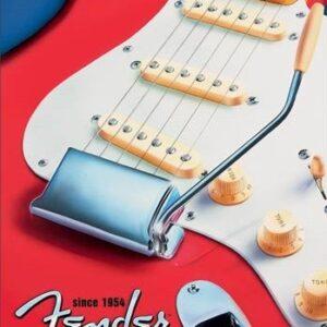 Posters Plechová cedule Fender - Built to Inspire