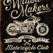 Posters Plechová cedule Widow Maker's Cycle Club
