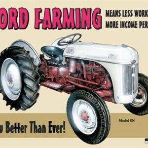 Posters Plechová cedule Ford Farming 8N
