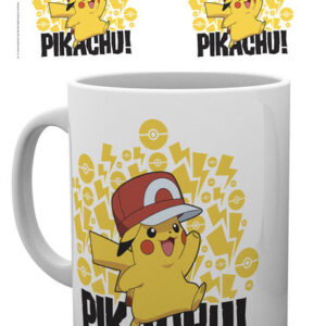 Posters Hrnek Pokemon - Ash Hat - Pikachu - Posters