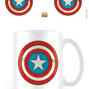 Posters Hrnek Marvel Retro - Captain America Sheild - Posters