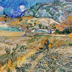 Posters Reprodukce Vincent van Gogh - Krajina v Saint-Rémy