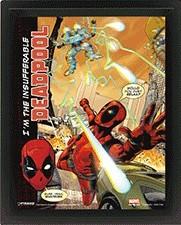 Posters 3D plakát s rámem Deadpool - Attack