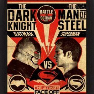 Posters 3D plakát s rámem Batman V Superman - Fight Poster
