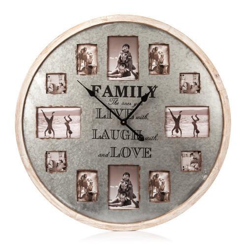 Posters Hodiny dřevěné - Family