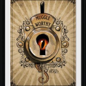 Posters Fantastická zvířata a kde je najít - Muggle Worthy rám s plexisklem - Posters