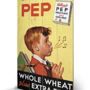 Posters Obraz na dřevě - Vintage Kelloggs - Start Back Full Of Pep