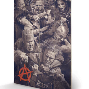 Posters Obraz na dřevě - Sons of Anarchy (Zákon gangu) - Fight