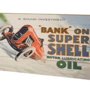 Posters Obraz na dřevě - Shell - Bank on Shell - Racing Car
