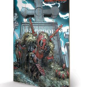 Posters Obraz na dřevě - Deadpool - Grave