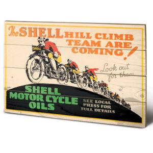 Posters Obraz na dřevě - Shell - Hill Climb