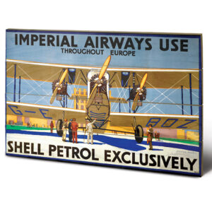 Posters Obraz na dřevě - Shell - Imperial Airways