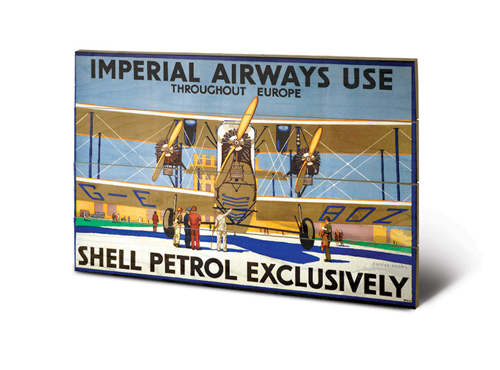 Posters Obraz na dřevě - Shell - Imperial Airways