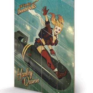 Posters Obraz na dřevě - DC Comics: Bombshells - Harley Quinn Bomb