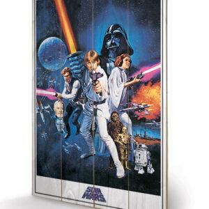 Posters Obraz na dřevě - Star Wars Epizoda IV: Nová naděje - One Sheet