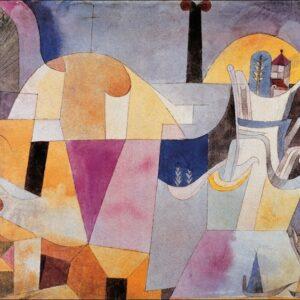 Posters Reprodukce Klee - Paesaggio con colonne