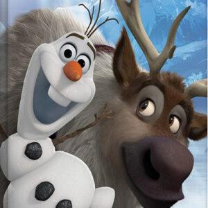 Posters Obraz na plátně Ledové království - Olaf & Sven