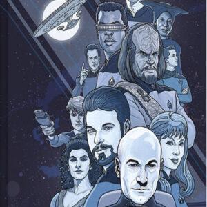 Posters Obraz na plátně Star Trek: Next Generation Blue - 50th Anniversary