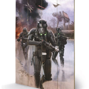 Posters Obraz na dřevě - Rogue One: Star Wars Story - Death Trooper Beach