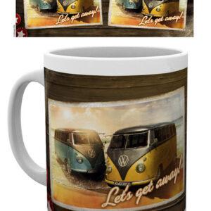 Posters Hrnek VW Camper - Lets Get Away - Posters
