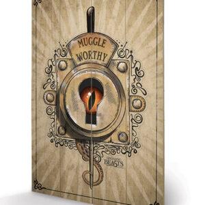 Posters Obraz na dřevě - Fantastická zvířata a kde je najít - Muggle Worthy
