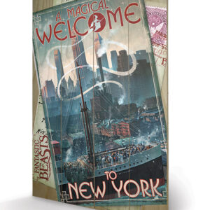 Posters Obraz na dřevě - Fantastická zvířata a kde je najít - New York