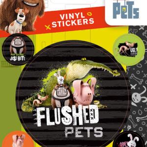 Posters Samolepka Tajný život mazlíčků - Flushed Pets - Posters