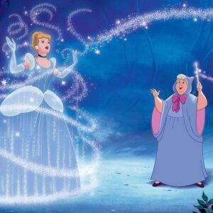 Posters Fototapeta Disney Princesses Cinderella 254x184 cm - 115g/m2 Paper - Posters