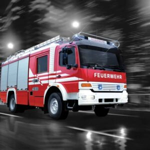 Posters Fototapeta Fire Engine 254x184 cm - 115g/m2 Paper - Posters