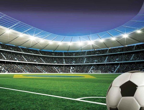 Posters Fototapeta Football Stadium Sport 254x184 cm - 115g/m2 Paper - Posters