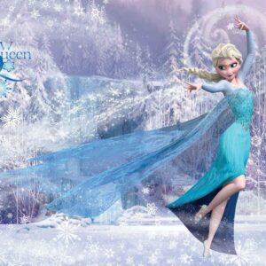 Posters Fototapeta Disney Frozen Elsa 368x254 cm - 115g/m2 Paper - Posters