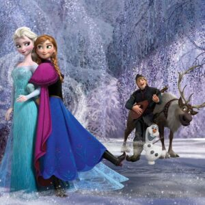 Posters Fototapeta Disney Frozen Elsa Anna 416x254 cm - 130g/m2 Vlies Non-Woven - Posters