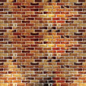 Posters Fototapeta Brick Wall 254x184 cm - 115g/m2 Paper - Posters
