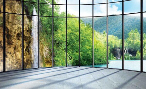 Posters Fototapeta View Tropical Landscape 416x254 cm - 130g/m2 Vlies Non-Woven - Posters