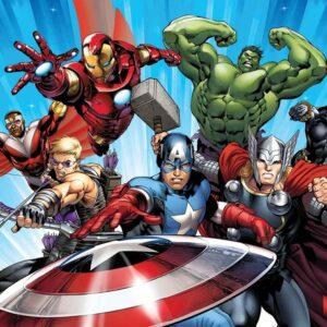 Posters Fototapeta Marvel Avengers 152.5x104 cm - 130g/m2 Vlies Non-Woven - Posters
