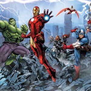 Posters Fototapeta Marvel Avengers 104x70.5 cm - 130g/m2 Vlies Non-Woven - Posters