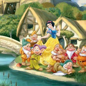 Posters Fototapeta Disney Princesses Snow White 104x70.5 cm - 130g/m2 Vlies Non-Woven - Posters