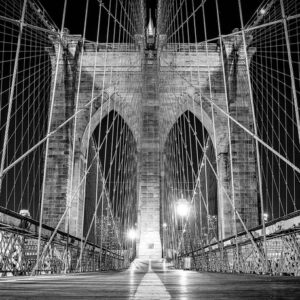 Posters Fototapeta Brooklyn Bridge New York 104x70.5 cm - 130g/m2 Vlies Non-Woven - Posters