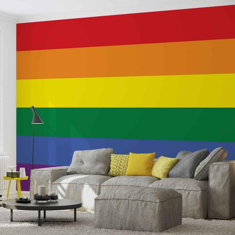 Posters Fototapeta Flag Rainbow Gay Pride 104x70.5 cm - 130g/m2 Vlies Non-Woven - Posters