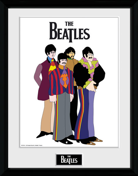 Posters The Beatles - Yellow Submarine Group rám s plexisklem - Posters