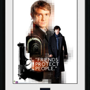 Posters Sherlock - Friends Protect rám s plexisklem - Posters