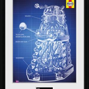 Posters Doctor Who - Haynes Dalek Blueprint rám s plexisklem - Posters