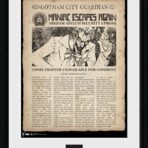 Posters Batman Comic - Joker Escpaes rám s plexisklem - Posters