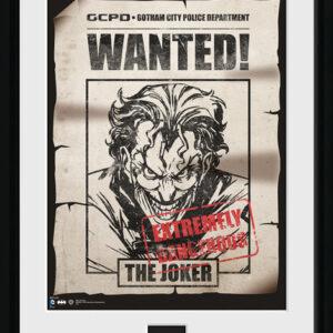 Posters Batman Comic - Joker Wanted rám s plexisklem - Posters